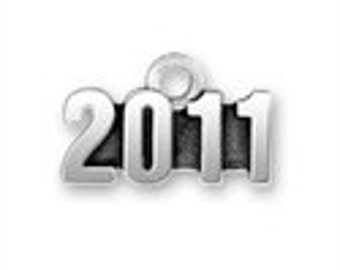 Year 2011 Charm - Sterling Silver