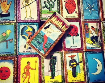 100 loteria match box wedding favors