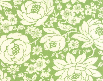 Hello Darling - Floral in Green - Bonnie and Camille for Moda - 55110 15 - 1/2 yard
