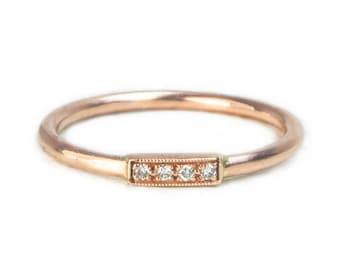 The Eva Ring - 18ct Rose Gold Diamond Ring