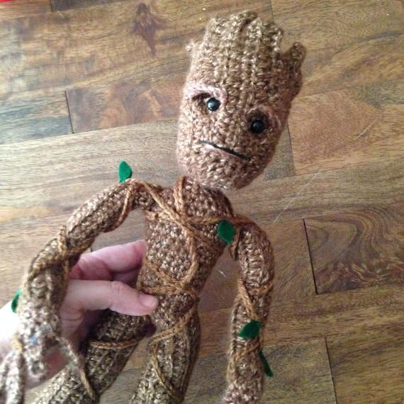 Amigurumi Patterns Groot : Groot inspired Tree Superhero doll Crochet Amigurumi ...