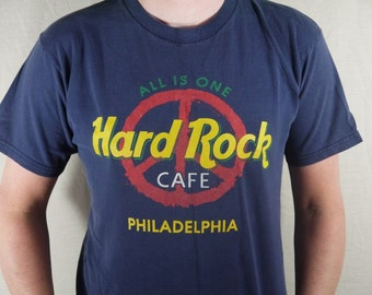 Vintage Hard Rock Cafe Philadelphia All is One Peace Sign T Shirt