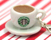 coffee charm kawaii polymer clay charms miniature food jewelry polymer clay food charm coffee cup charm starbucks charm coffee necklace