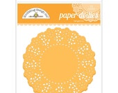 Tangerine Orange Paper Doilies 4.5 Inch Set of 75 by Doodlebug Designs for Scrapbooks, Crafts, Food Crafts, and More