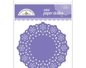 Lilac Purple Mini Paper Doilies 3 Inch Set of 75 by Doodlebug Designs