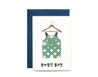 Baby Boy Illustrated Greeting Card