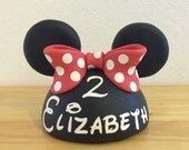 Forever to keep - 4 Inches wide-Pink, Hot Pink, or Red Inspired Minnie Mouse Cake topper