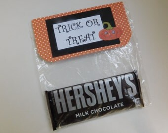 Halloween party favor bags or for trick or treat bags -set of 12 trick or treat bags with bag toppers
