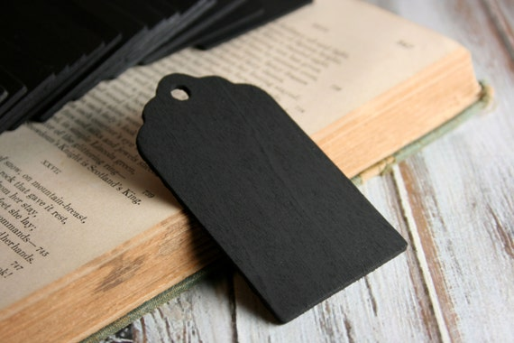 10 Scallop Chalkboard Tags - Set of 10 - Wood Chalkboard Tag