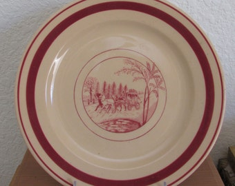 "Coach and Four 9"" Plate McNichol China Roloc"