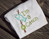 I'm A Catch Bodysuit - Sizes 0-3 - 18 Months. FREE Monogramming.