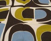 Organic Daisy Jane Modern Tile FQ Blue and Brown