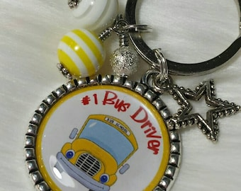 Bus Driver Keychain, Bus Driver Gift, School Bus Driver, #1 Bus Driver, Under 10, Under 20