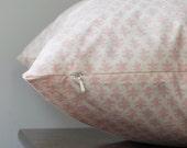 Sister Parish Pillow Cover, Nursery Decor, Pink Euro Sham, Invisible Zipper