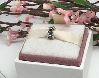 Authentic Pandora Floral Elegance Spacer Charm For Bracelet