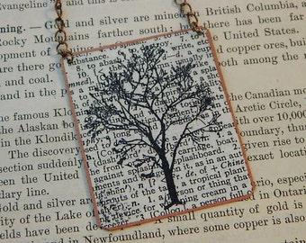 Tree necklace Tree jewelry mixed media jewelry