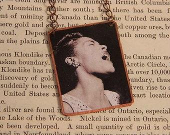 Billie Holiday necklace Black History jewelry Jazz jewelry