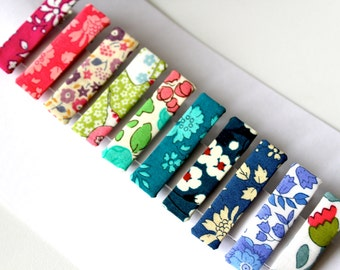 10 Crocodile Hair Clip Liberty fabric - IN STOCK