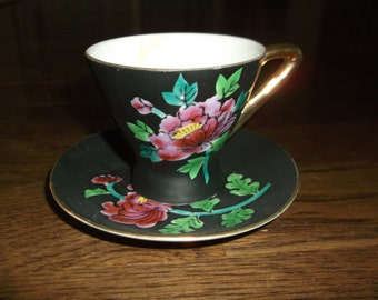 Vintage Hand Painted Cup and Saucer
