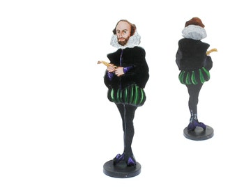William Shakespeare Hand Painted 2D  Art Figurine