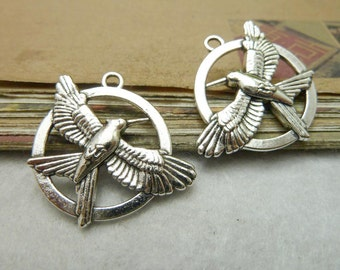10 pcs 29 mm The ancient silver, hunger games connector, pendant, Charm Handmade DIY accessories   - C57808