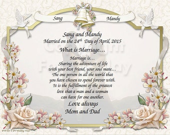 NEW!! Wedding Keepsake and Vows.