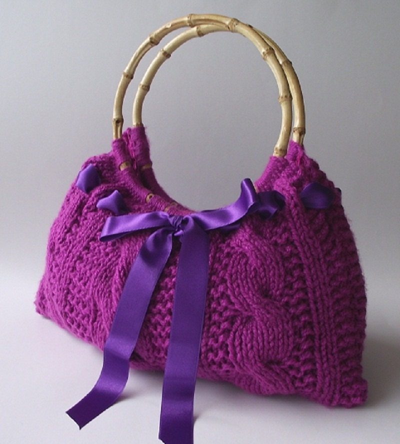 KNITTING BAG PATTERN Lucia Bag Knit bag pattern with