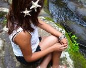 IVORY MERMAID Starfish Crown Beach Hair Piece Set of Two