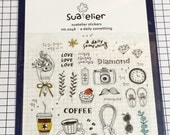 Dairy theme Stickers - 1 sheet - Suatelier stickers, Schedule seal, Scrapbook Supplies,  Korea kawaii sticker sheet 1046