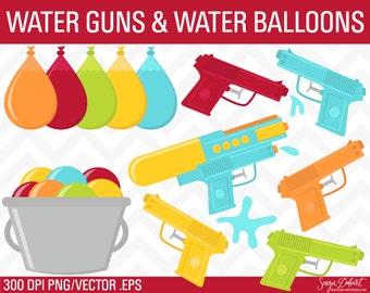 60% OFF SALE Summer Clipart, Water Gun Clipart, Squirt Gun Clipart,  Water Gun Clip Art, Summer Clip Art CA227