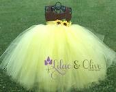 Sunflower Tutu Dress Yellow & Brown Baby Girl Tutu Dress Childs Tutu Dress Toddler Tutu Dress Pageant  Tutu Dress Birthday Tutu Dress