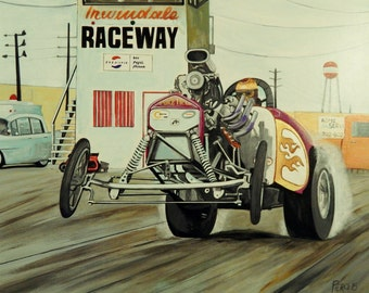 Pure Hell AA Fuel Altered Painting