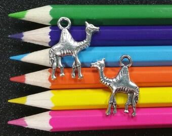 10 PCS - Camel Hump Day Animal Desert Silver Charm Pendant C0431