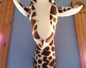 Giraffe elephant zebra and big buck head mount nursery playroom decor fleece