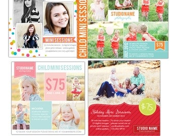 INSTANT DOWNLOAD  - Marketing boards bundle  - Newsletter  templates - E497-B