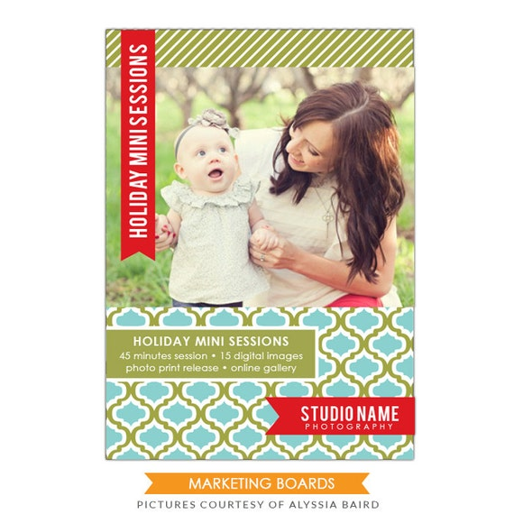 INSTANT DOWNLOAD - Photography Marketing board - 5x7 Newsletter  template -E498-1