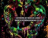 Punk Art print  '4EVER'  by Marcus Jones