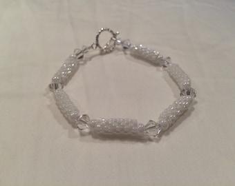 Peyote bead bracelet