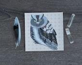 Owl Sticker / Northern Screech Owl / Removable Decal / Original Illustration / Vinyl Decal / Bumper Sticker