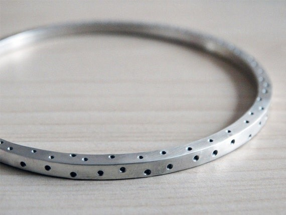 Dotty Silver Bangle - Solid Silver - Sterling Silver