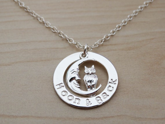 Children's Necklace 'Moon & Back' - Sterling Silver
