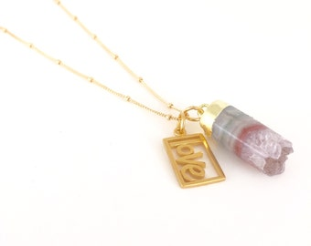 Amethyst Love Chain 14K Gold Filled