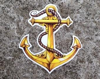 Anchor Temporary Tattoo - Temporary Tattoo - Sailor Jerry Tattoo - Anchor Tattoo - Sailor Tattoo - Sailor Temporary Tattoo - Nautical Tattoo