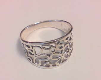 925 Sterling Silver Filigree Ring