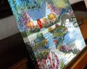 Cottage Dream, Home Oil Painting, Brookside Dream, Dan Leasure Oil on Canvas, 20.5 x 20.5