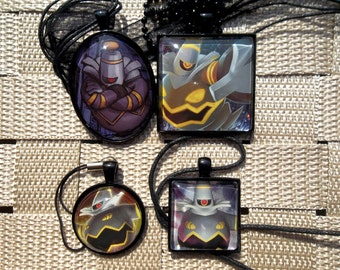 Dusknoir HOLO Glass pendant made from Trading Cards