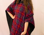 RESERVED!!!!!! ON SALE 1980s reversible tartan cape with hood