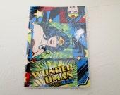 Wonder Woman Passport Cover  DC Comics Fabric 2 with Vinyl Travel Accessory Cruise Passport Protector Gift Card Holder Superhero graduation