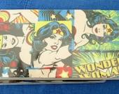 CHECKBOOK COVER  new fabric choice Wonder Woman 2 vinyl protector Custom Handmade Personalized Geek Comic Book Hero Gift for Her