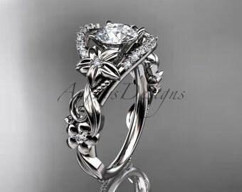 platinum diamond unique engagement ring,wedding ring ADLR211
